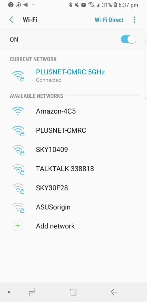 Wifi selection Amazon Alexa