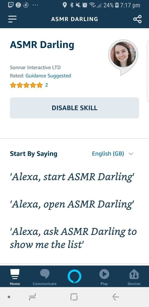 Alexa New Skill Commands