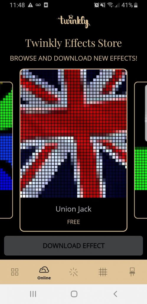 Union Jack Christmas Light Preset